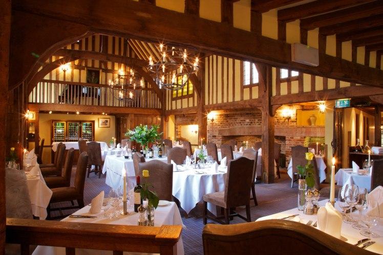 Gallery restaurant at The Swan at Lavenham