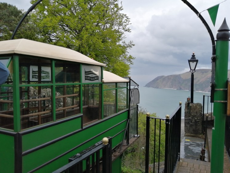 View from the top of the Lynton & Lynmouth Cliff Railway