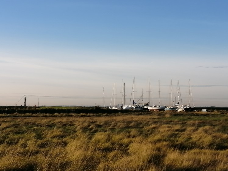 Boats at Gibraltar Point Nature Reserve