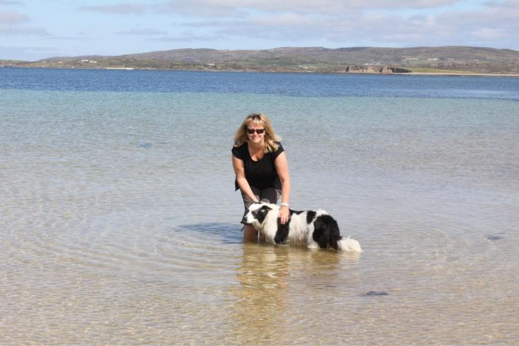 Carol with her much-missed Collie, Jess