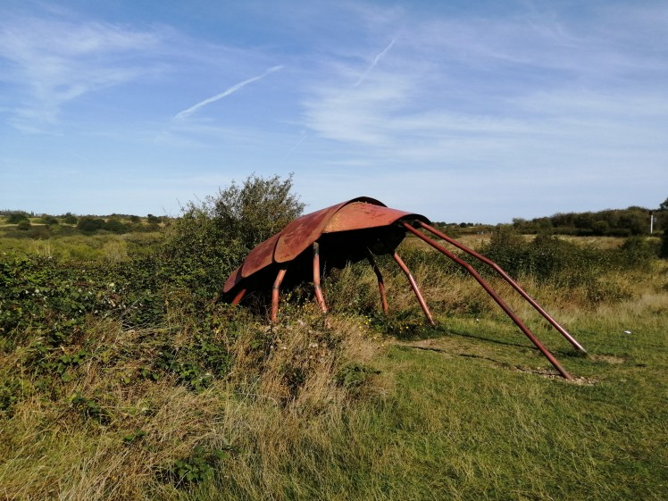 Luke Warburton's Cockroach sculpture is one of many that can be seen at Wat Tyler Park