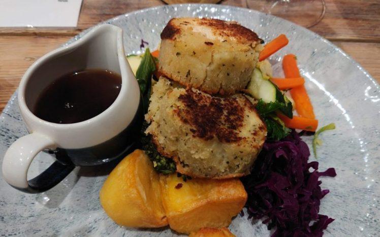Tofu and stuffing Sunday roast