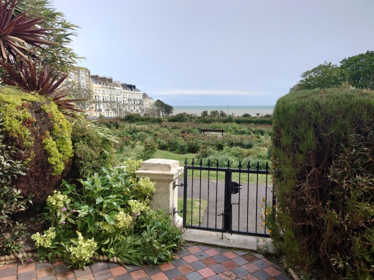 View of the sea and Warrior Square from Victorian Beach House, Hastings