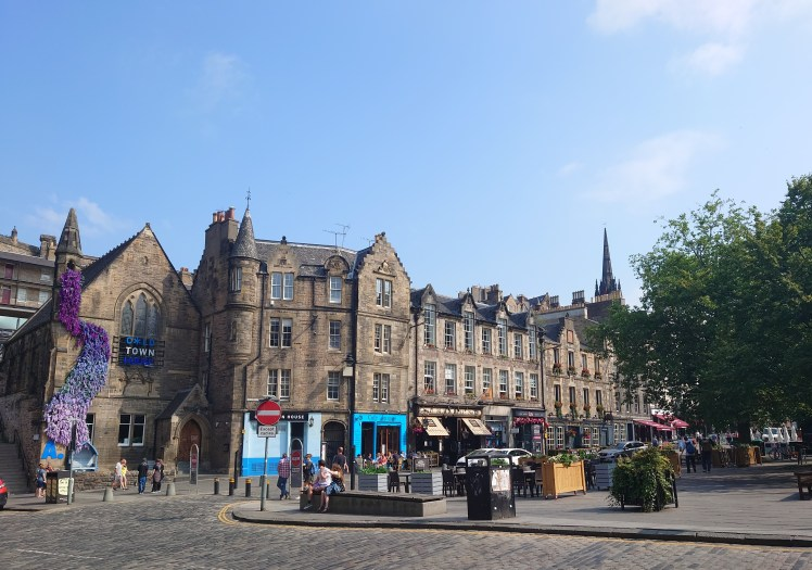 Bars and cafes in Grassmarket, Edinburgh