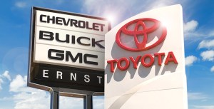 Ernst Auto Group Dealership Signs