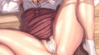 【開脚】股を開いたオマンコアピール二次エロ画像 Part9