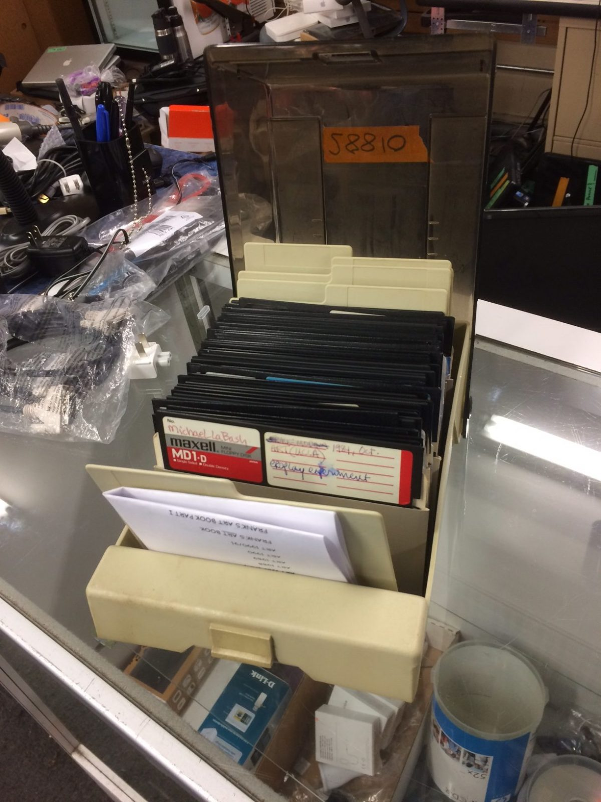 "5.25"" floppy discs from the 1980s"