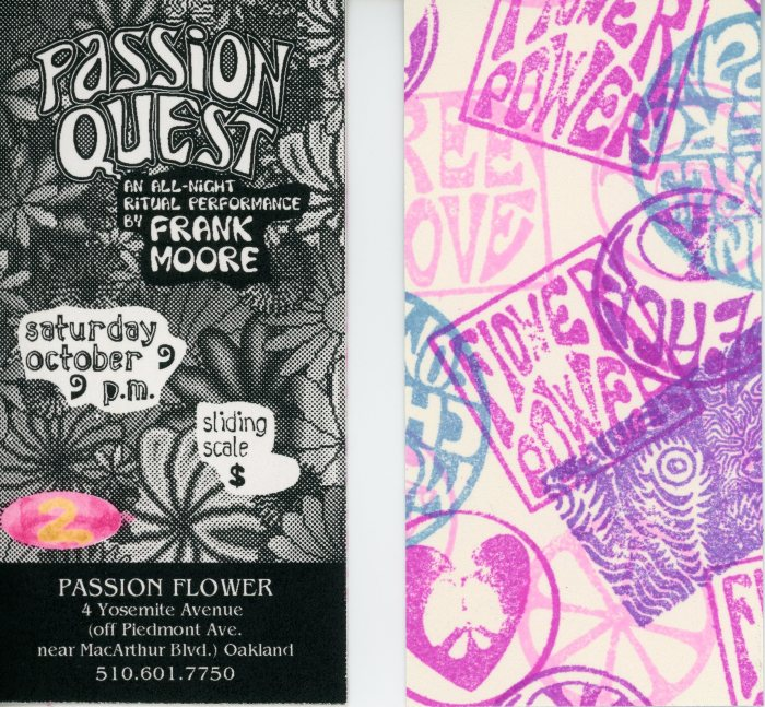 """Passion Quest"" ticket, front and back"