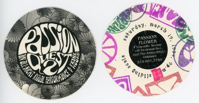 """Passion Quest 2"" ticket, front and back"