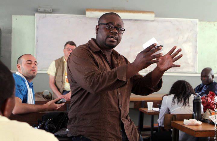 Eros Sana au Forum Social Mondial à Dakar en 2011. Crédit Photo Maonghe Mbaitjongue.