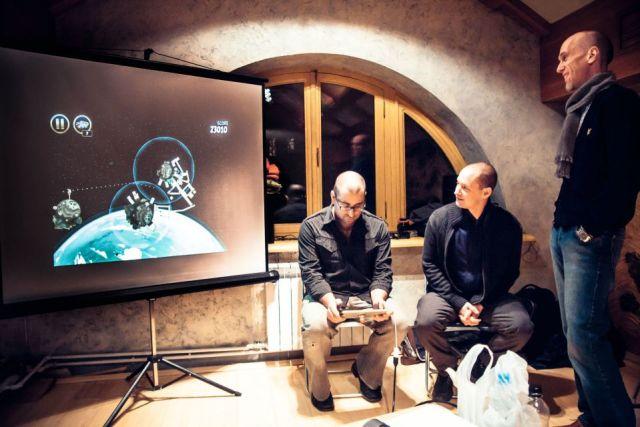 Клинт Фуз, Колин Бигелоу, Александр Нариньяни (переводчик). Интегральный семинар в Москве (декабрь 2012). Фото © Валентин Горбунов