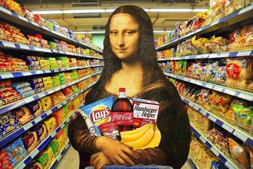 Монализа в супермаркете