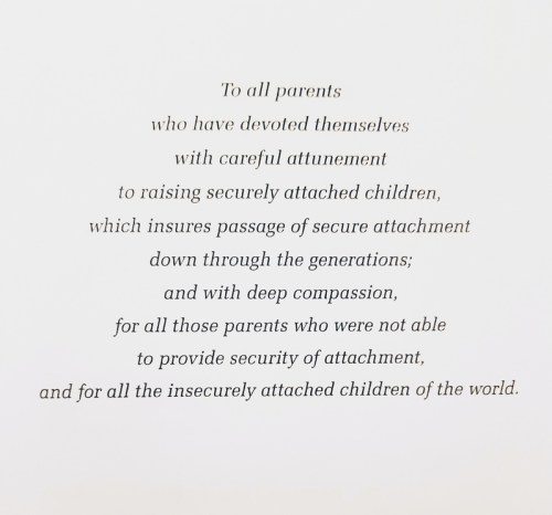 Посвящение-эпиграф к книге Дэниела Брауна и Дэвида Эллиотта «Нарушения привязанности у взрослых» (Attachment Disturbances in Adults)