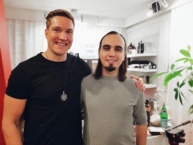 Olli Sovijarvi & Eugene Pustoshkin at the Biohacker Center (Helsinki)