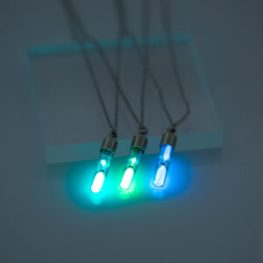 fashion hourglass Luminous Pendant Necklace Glowing in the Dark Hollow Luminous Pendant Necklace Jewelry Halloween Gifts Download all