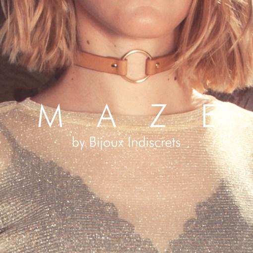MAZE Collar Choker Marrón