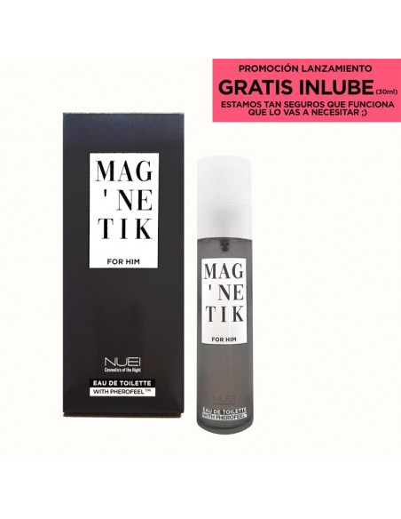 Perfume de feromonas para chico Magnetic con lubricante de 30 ml de regalo