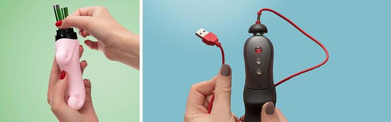 Como elegir tu primer vibrador: recargables o de pilas