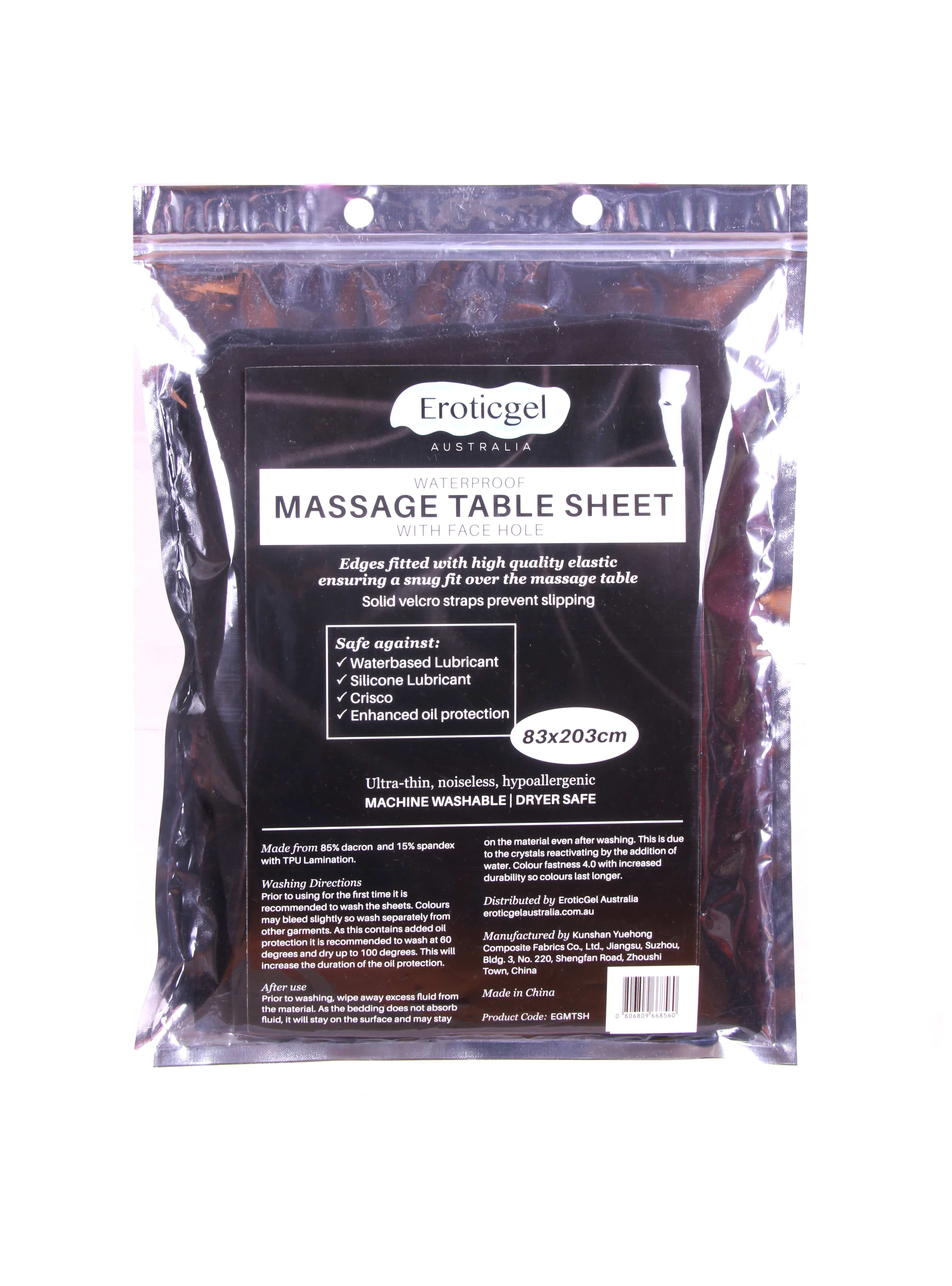Eroticgel Massage Table Sheet Front with face hole