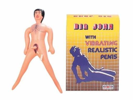 Big John Man Titreşimli Penisli Şişme Bebek Erkek Manken