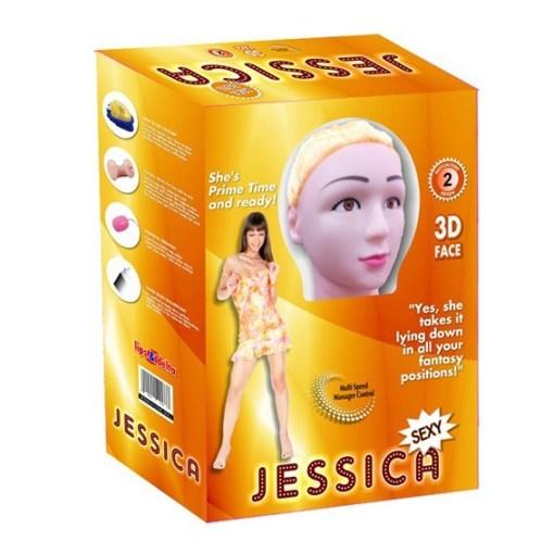 Jessica Saçlı ve Titreşimli Realistik Şişme Bebek Kadın Manken