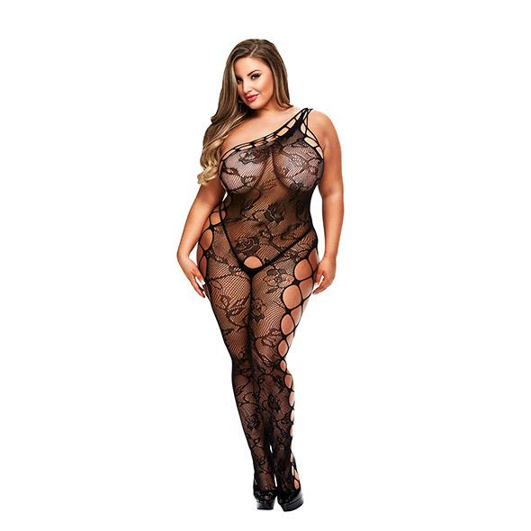 Baci Off the Shoulder Bodystocking Queen Size
