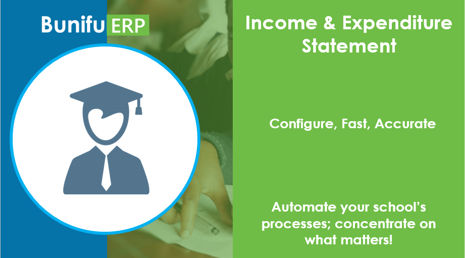 Bunifu ERP for schools and colleges income and expenditure statement
