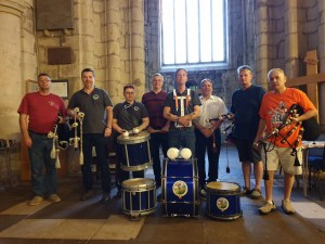 East Riding Pipe Band in the early days.
