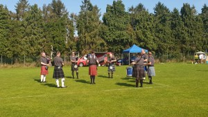Pock Fun day 2019. One of Pocklington Pipes and Drums (East Riding Pipe Band) first engagements