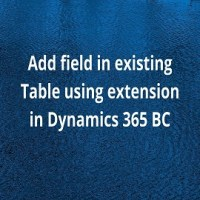 Add field in existing Table using extension