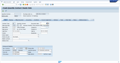 small resolution of sales data in sap sd contract header
