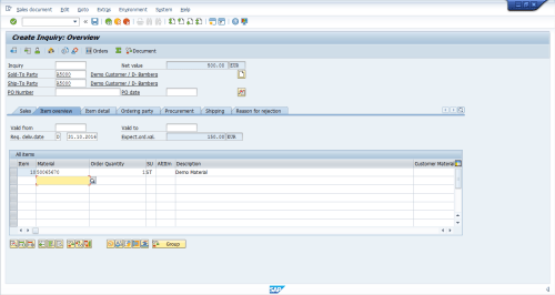 small resolution of sap sd inquiry