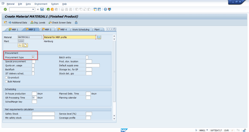 medium resolution of sap material master creation mrp 2 view
