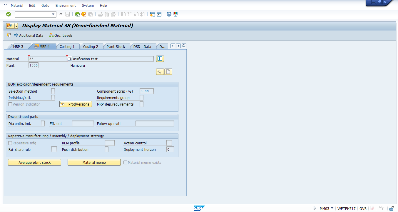 hight resolution of sap material master mrp 4 view