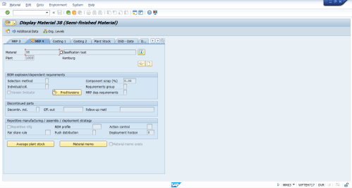 small resolution of sap material master mrp 4 view