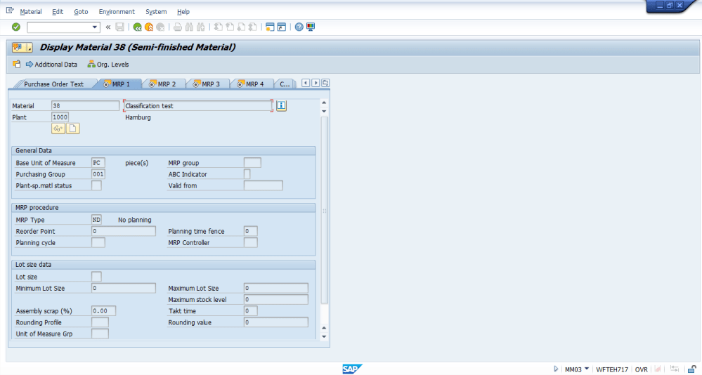 medium resolution of sap material master mrp 1 view