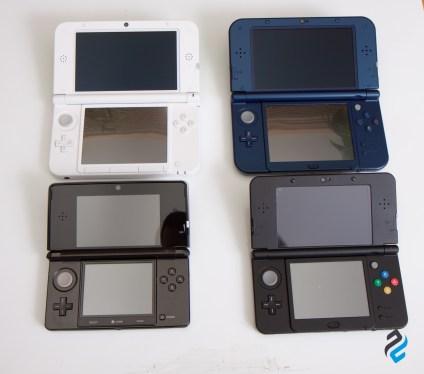 Wszystkie 4 modele 3DS