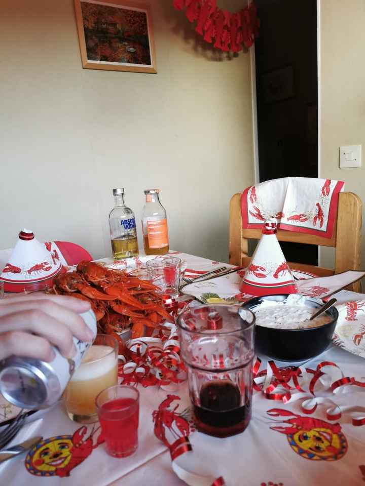 A Swedish crayfish party