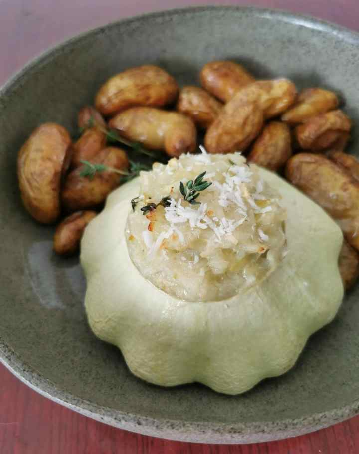 Recipe: Stuffed squash with coconut and thyme