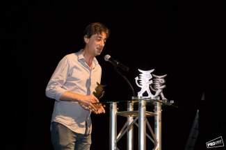 José Prieto foi o gañador do II Torneo de Dramaturxia de Galicia, dentro da Mostra de Cangas. Foto: Pro Light Estudio.