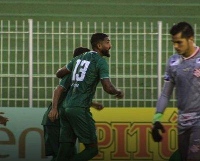 Jogadores do Boavista comemoram gol sobre o Bangu