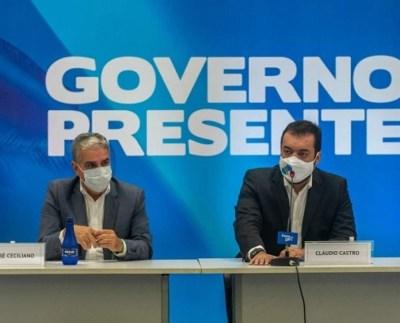 Presidente da Alerj, André Ceciliano, e governador em Exercício Cláudio castro participam do Governo Presente na Baixada Fluminense.