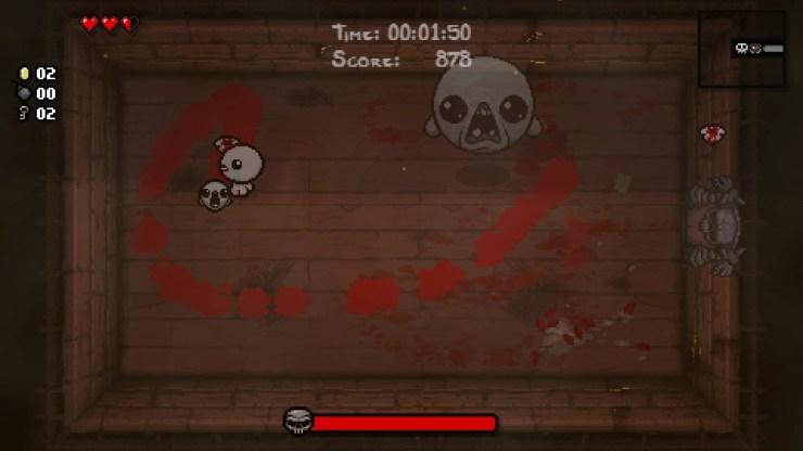 Un screen issu d'Afterbirth, que vous n'aurez jamais sur 3DS. Dommage !