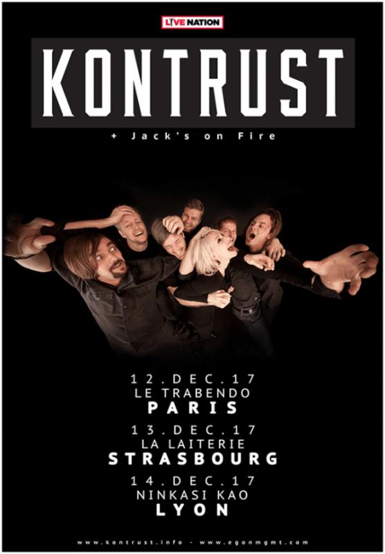 Kontrust en tournée en France en décembre !