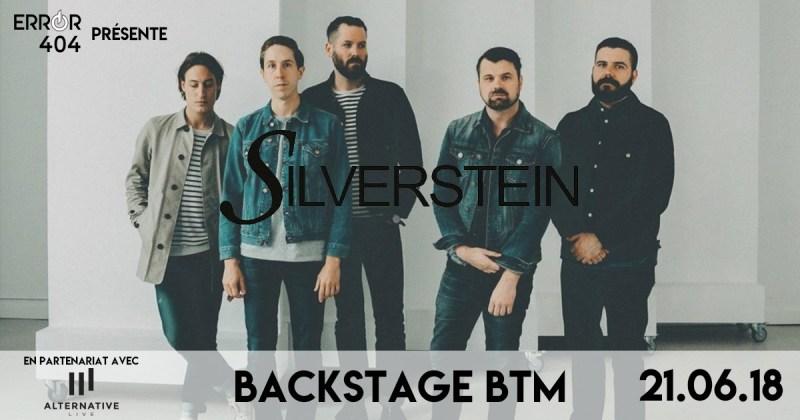 Error404 partenaire officiel de Silverstein