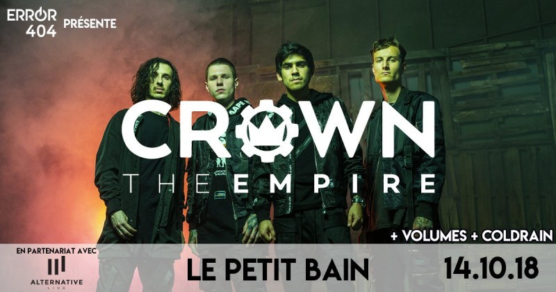 Error404 partenaire officiel de Crown The Empire à Paris
