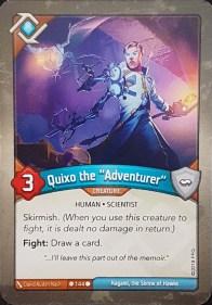 "Quixo the ""Adventurer"" - Keyforge"