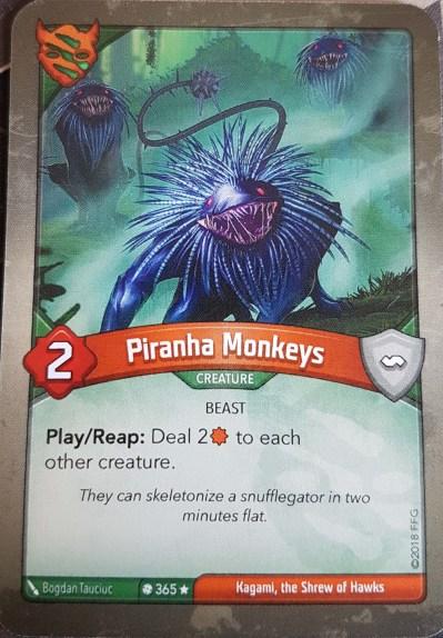 Piranha Monkeys - Keyforge