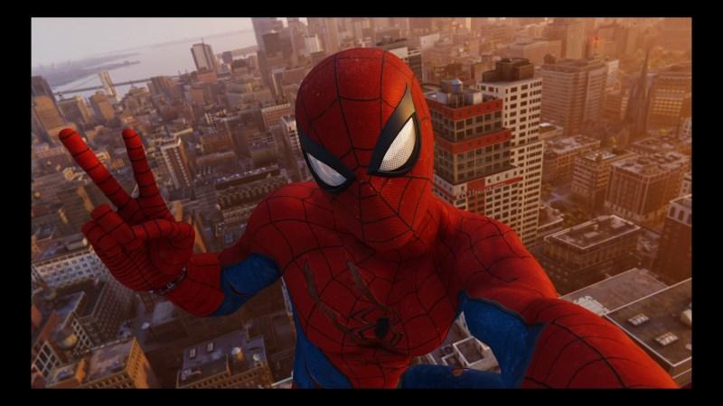 Spiderman sur les toits de NYC