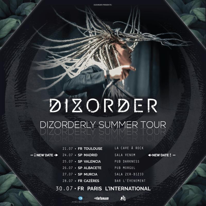 Dizorderly Summer Tour Affiche - Dizorder
